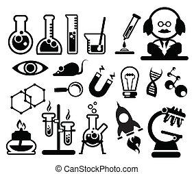 nauka, biologia, ikony