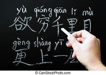 nauka, chińczyk litery