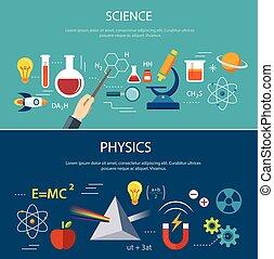 nauka, i, fizyka, wykształcenie, pojęcie