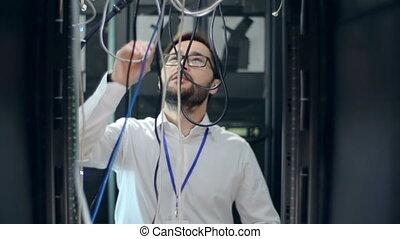 naukowiec, komputer