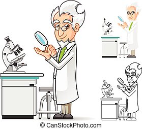naukowiec, litera, rysunek