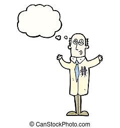 naukowiec, rysunek, idea