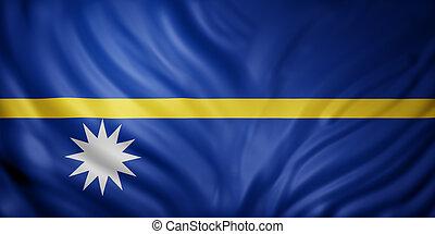 Nauru 3d flag