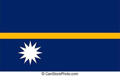 nauru flag illustration