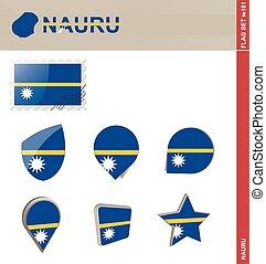Nauru Flag Set, Flag Set #181