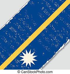 nauru, grunge, flag., vetorial, illustration.