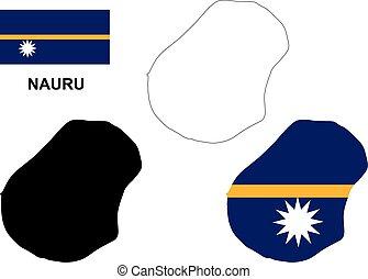 Nauru Political Map With De Facto Capital Yaren And Vector - Nauru map vector