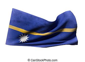 nauru, république, drapeau