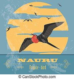 nauru., retro , αιχμηρή απόφυση , εικόνα