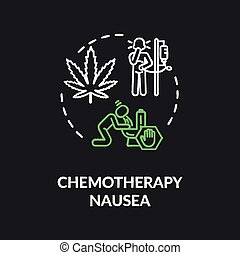nausée, couleur, craie, concept, icône, chemotherapy, rgb