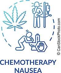 nausée, icône, chemotherapy, concept