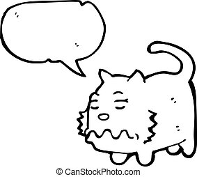 nauseous cartoon cat