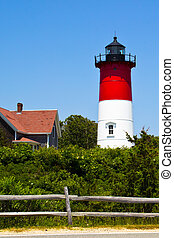 Nauset Lighthouse in Cape Cod - Nauset Lighthouse is located...