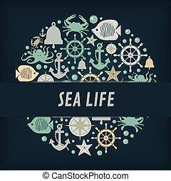 nautical anchor icons circles