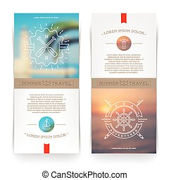 Nautical and travel banners