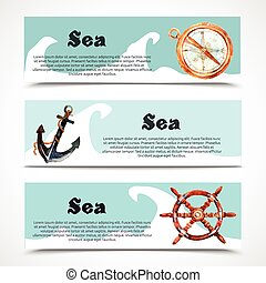 Nautical Banner Set