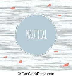 Nautical card hand-drawn