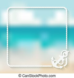 nautical card template with anchor