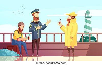 Nautical Cartoon Background