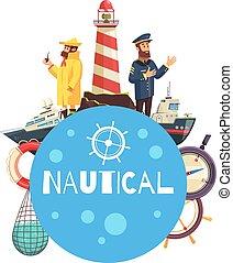 Nautical Cartoon Concept