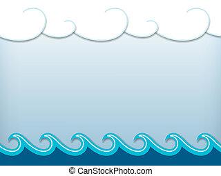 Nautical cartoon scenery