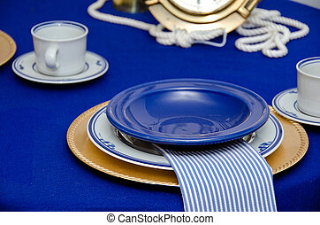 nautical dinner party setting