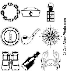 Nautical elements 4 sticker style
