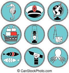 Nautical elements type 3 icons i