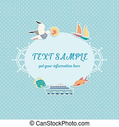Nautical frame for text