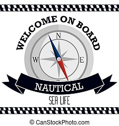 nautical frame with compass