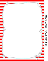 Rope frame suitable for announcements, party invitations and fashion updates with a nautical theme.