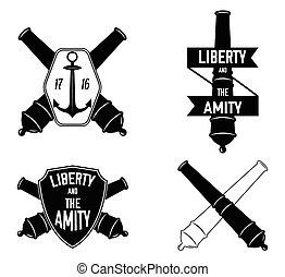 Nautical label badge