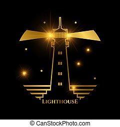 Nautical lighthouse logo