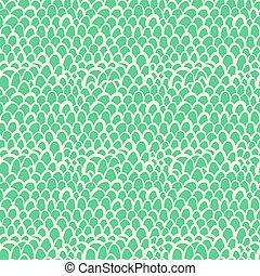 Nautical pattern inspired by tropical fish skin in aqua blue...