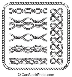 Nautical rope border