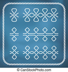 Nautical rope border