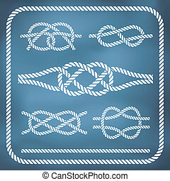 Nautical rope knotes. Vector, gradient mesh