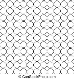 Nautical rope seamless tied fishnet pattern. vector illustration