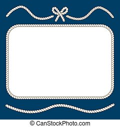 Nautical ropes and bow frame