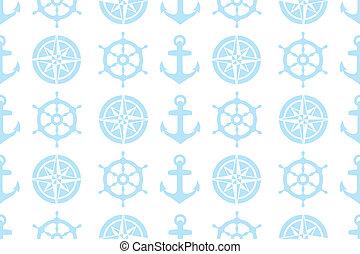 nautical seamless pattern for fabric - nautical seamless...