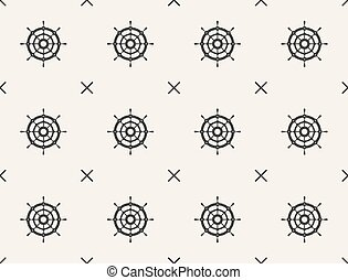 Nautical seamless pattern with anchors.