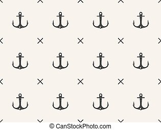 Nautical seamless pattern with sides of the world.