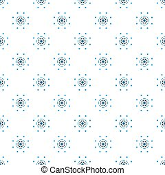 Nautical steering wheel Abstract seamless pattern. Design of packaging paper for printing on fabric.