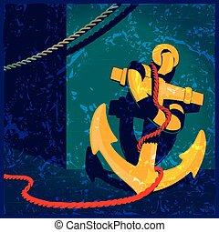 nautical theme vintage