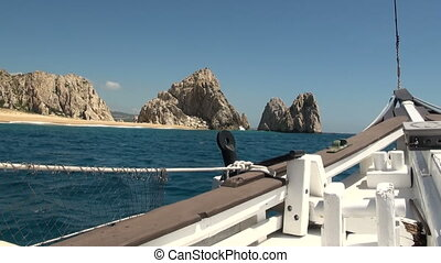 Nautical vessel - A sailboat mast - Pirate sail ship - Cabo San Lucas, Mexico
