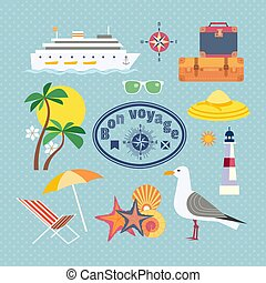 Nautical vintage icons