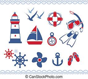 nautico, icone