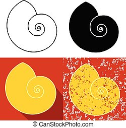 nautilus concept icon grunge vector eps 10
