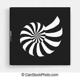 nautilus, illustration., resumen, vector, diseño, shell.,...