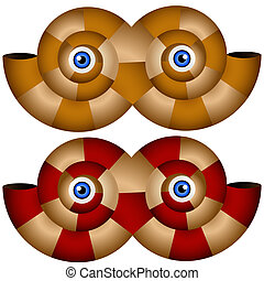 Nautilus Shell Halloween Mask Set